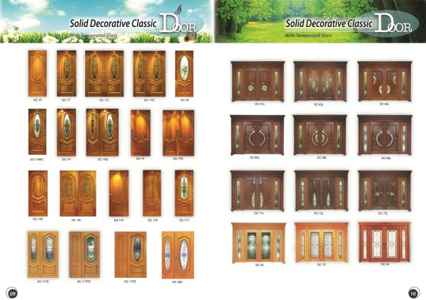 Solid Decorative classic door 2