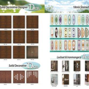 Solid Decorative classic door